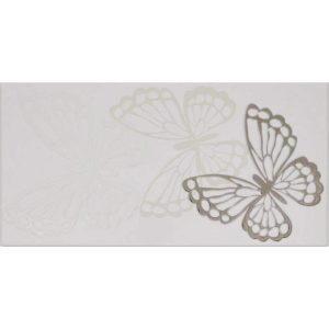 Koza white platin dekor, 30×60