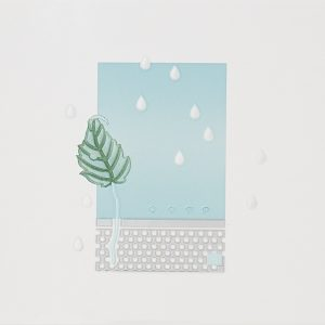 Bianco verde forest, 25×33