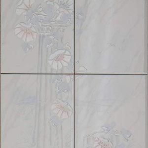 Vintage -kuosi, valkoiset kukat