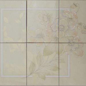 Vintage -kuosi, beige kukka