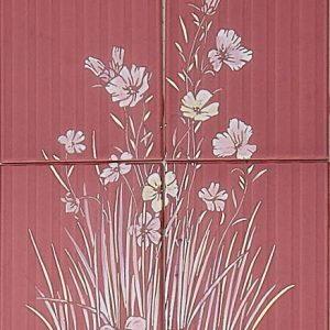 Vintage -kuva, punainen kukka
