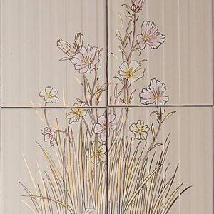Vintage -kuva, beige kukka