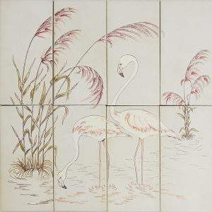 Vintage -kuosi, flamingot