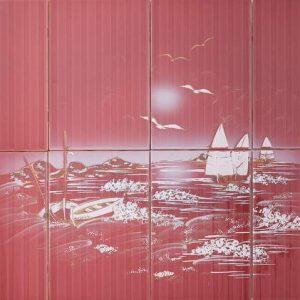 Vintage -kuosi, punainen meri