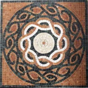 Mosaiikki kuvio,  aitoa marmoria, 60×60